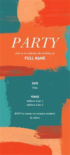 Birthday Invitations Announcements Templates Designs