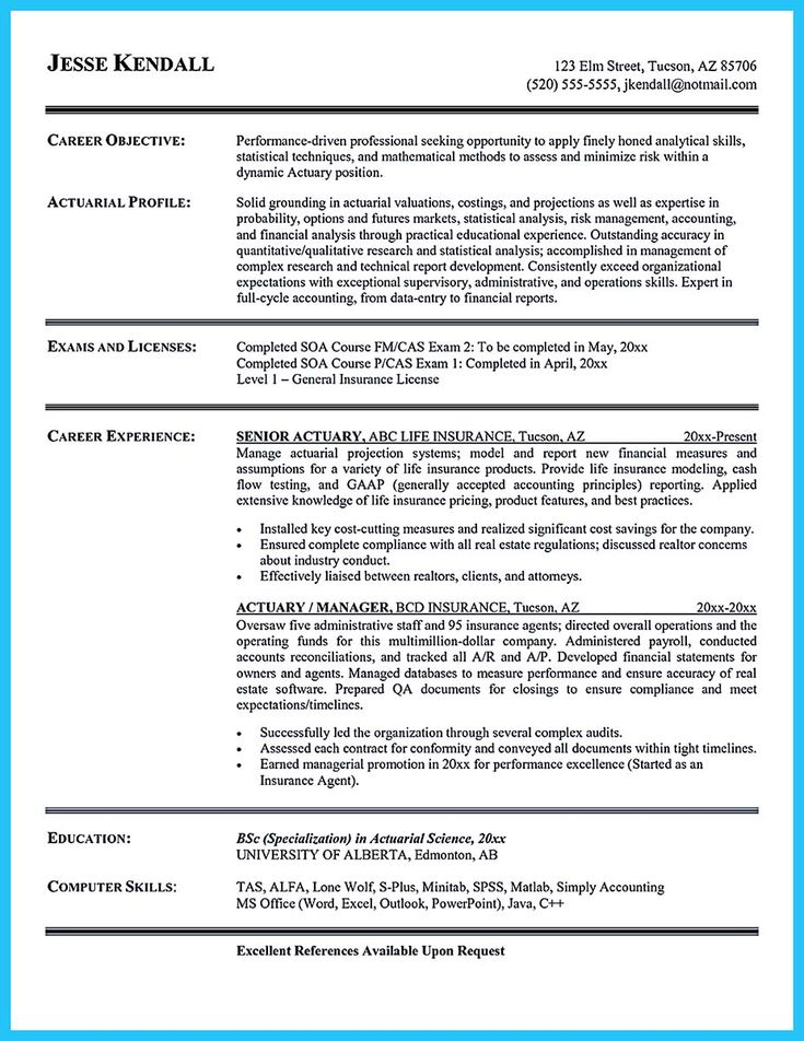 Resume examples with objective