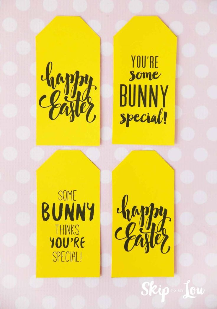 free printable Easter gift tags   – Gift ideas