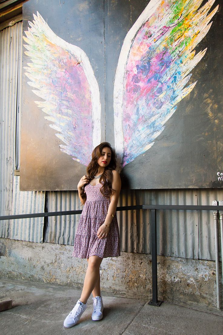 Angel wingpaintings by Collette Miller can be found in the Arts District in downtown Los Angeles.