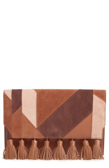 Rebecca Minkoff 'Sofia' Tassel Patchwork Leather Clutch available at #Nordstrom