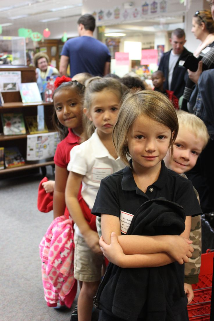 WDA Kindergartener's wait in line anxiously at the Plymouth Public Library before they head over to the fire department. #PCSCweCARE  @PlymouthCSC_IN