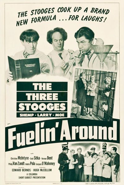 """The Three Stooges in Fuelin' Around Movie Poster Replica 13x19"""" Photo Print"""