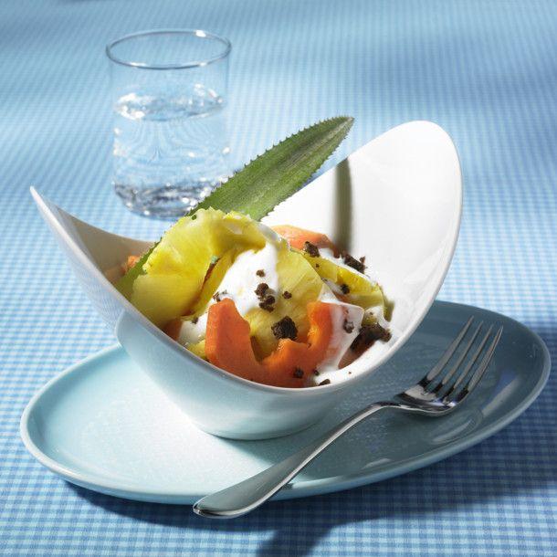 Unser beliebtes Rezept für Papaya-Ananas-Salat mit Joghurt und mehr als 55.000 weitere kostenlose Rezepte auf LECKER.de.