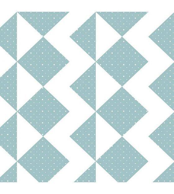 Roomblush Behang Zigzag zachtblauw papier 1140x50cm - wonenmetlef.nl