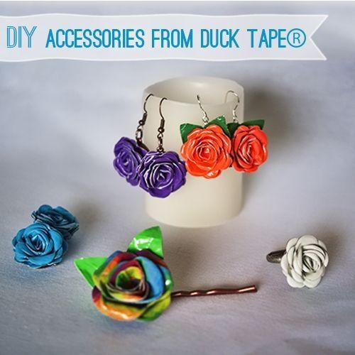Duck tape earrings