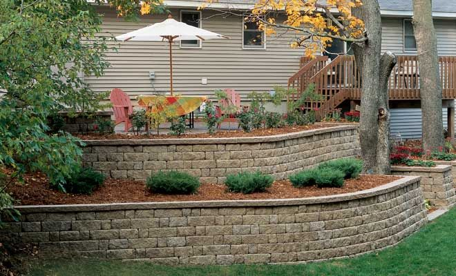 817 best retaining wall ideas images on pinterest for Stone retaining wall ideas