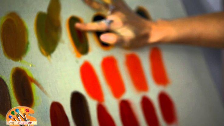Художник Ольга Базанова рассказывает, как в помощью базовых цветов (желтый, синий и красный) в живописи маслом получить коричневый цвет. Основные техники и с...