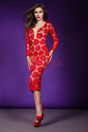Rochia de ocazie Isabelle este un obiect vestimentar incantator, realizat din dantela de culoare rosie, cu decolteu stilizat si maneci lungi. http://imbracaminte.fashion69.ro/rochii-de-ocazie-rosii-isabelle/p69545