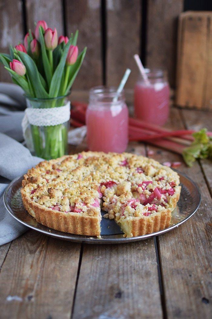 Rhabarber Streusel Tarte - Rhubarb Crumble Tart | Das Knusperstübchen