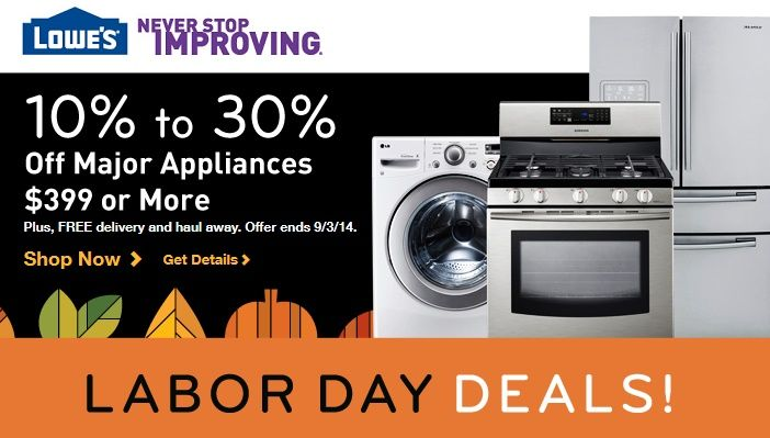 Lowe's Labor Day Sale 2014 UP TO 75% OFF. Big Savings starts now, no need to wait on Labor Day.