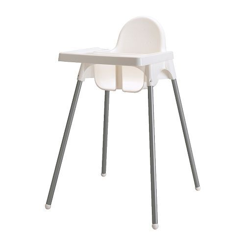 IKEA - ANTILOP, Highchair with tray, , Easy to disassemble and carry along.The raised edges prevent spills from landing on the floor.A highchair makes it easier for small children to eat at the same table as grown-ups, which helps them develop social and eating skills.
