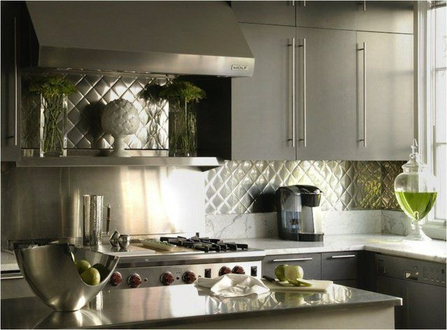 best 20 stainless backsplash ideas on pinterest stainless steel backsplash tiles backsplash. Black Bedroom Furniture Sets. Home Design Ideas