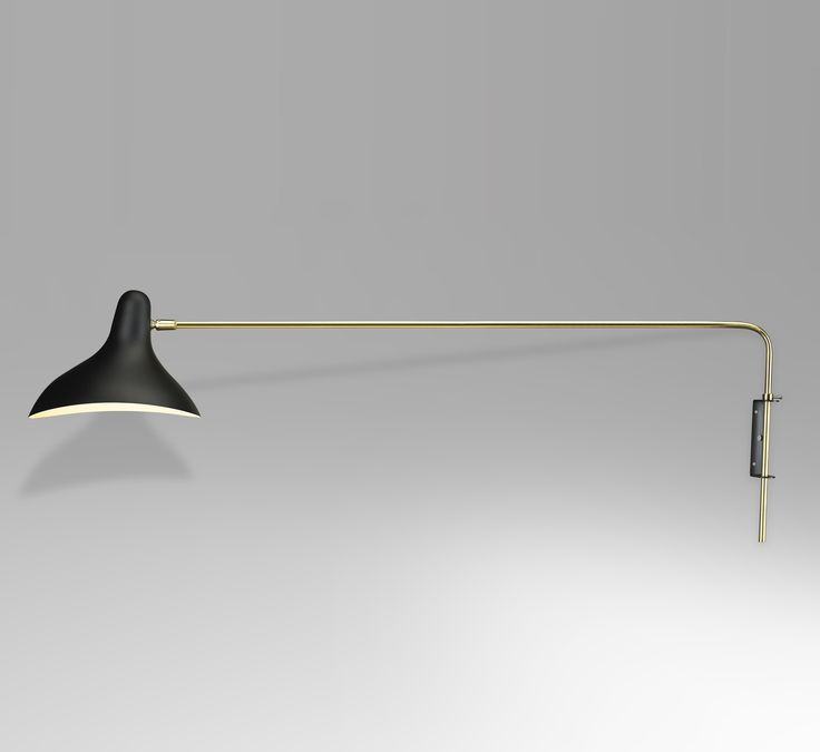 Mid-Century Modern Long Mantis Rotating Wall Sconce - Black