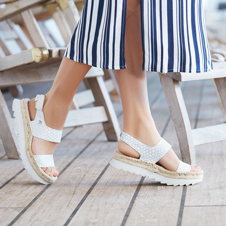 Wedge it with Replay --> https://www.omoda.com · ReplayWomen Sandals ChannelWedgesCampaignWomen's SandalsWedgeCleatsWomen's Shoes Sandals