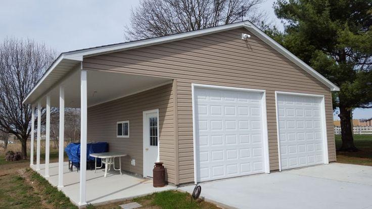N0292 26′ x 32′ Garage with Eave Patio in Effingham