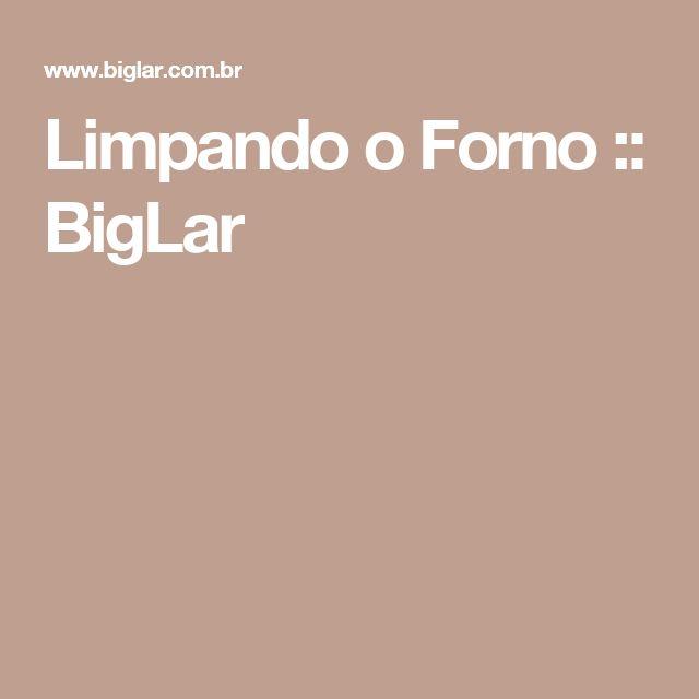Limpando o Forno :: BigLar