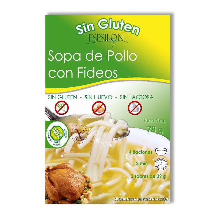 Sopa de Pollo con Fideos Sin Gluten Sin Huevo Sin Lactosa