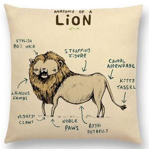 Cartoon Animals Cushion Cover - In the Wild