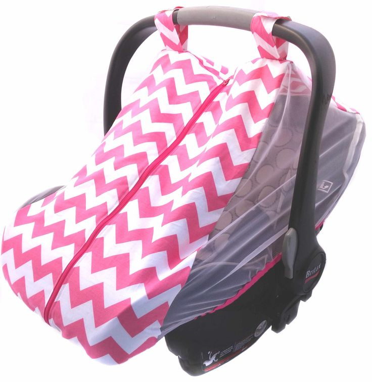 Baby car seat cover - Infant car seat canopy - Summer car seat cover - Summer car seat canopy - pink, navy, or red and black chevron by DearLeoraDesigns on Etsy
