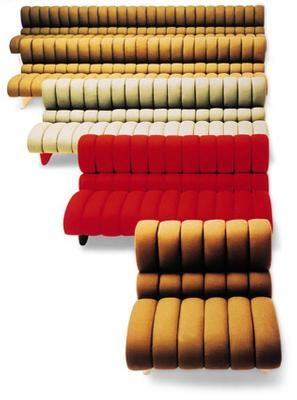 Marco Zanuso; Fiberglass 'Lombrico' Modular Sofa System for B & B Italia, 1967.