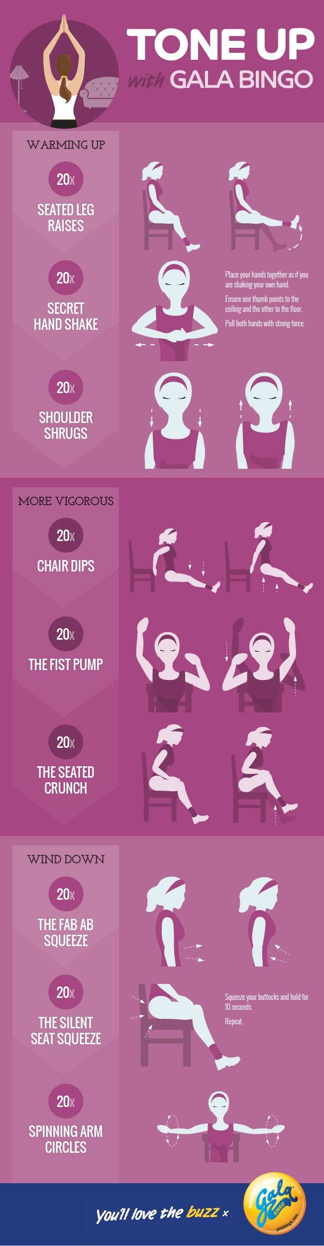 Tone Up With Gala Bingo Workout