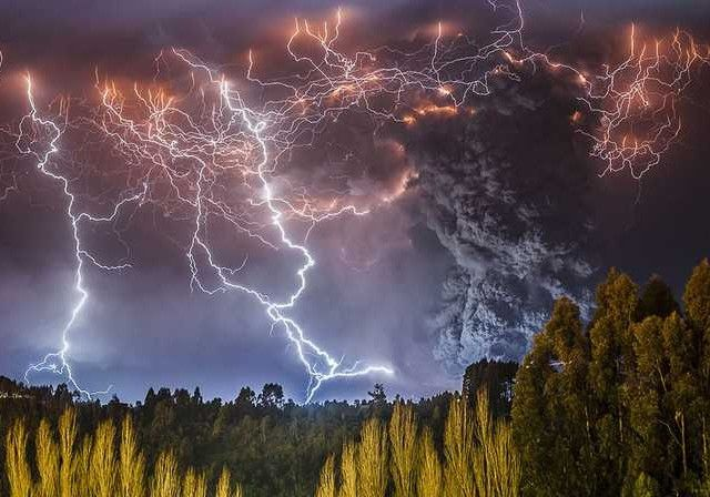 Volcano Erupting in Chile by Francisco Negroni