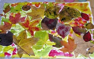 What Do We Do All Day?: Leaf Art -- simple collage.