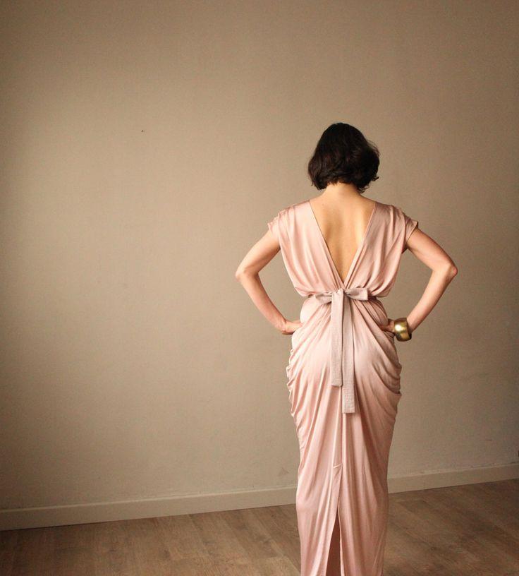 Pink Champagne  Bridesmaid Dress Prom Dress by BLUSHFASHION, $159.00