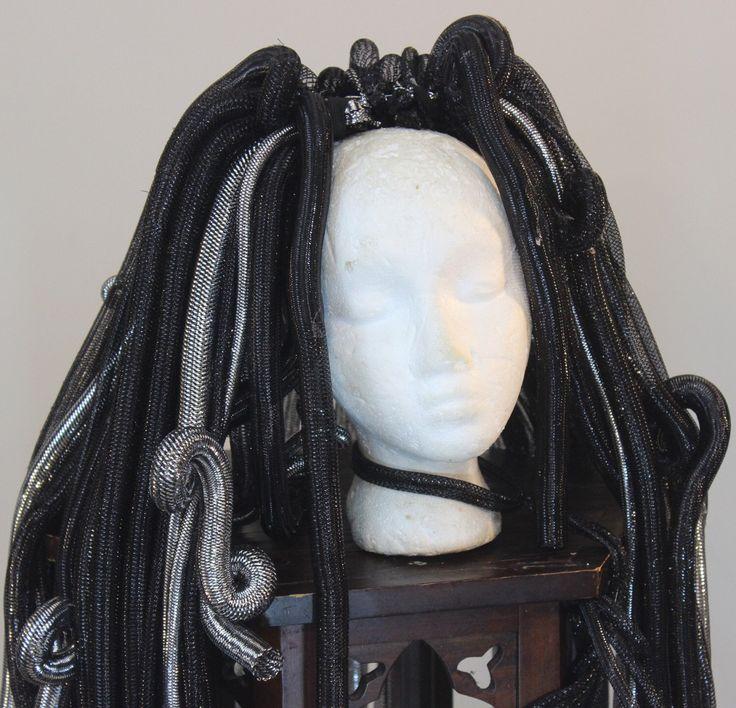 Cyberlox Medusa Wig Silver Black Cyber Hair Falls Halloween Cybergoth Cyber Goth Falls Cyberlocks Cyber Locks Burning Man Falls Cosplay Wig von CyberFreak auf Etsy https://www.etsy.com/de/listing/203347292/cyberlox-medusa-wig-silver-black-cyber