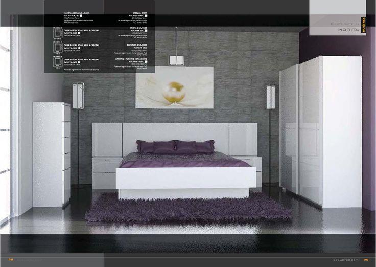 Conjunto compuesto de. 1 armario puertas correderas de 180x60x220cms 1 cama bañera disponible en :140/150/160cms 1 cabezal cama 259x2.5x50.3cms 2 cajones acoplables a cama 2 mesitas:45x35x47.1cms 1 sinfonier 5 cajones.45X35X122.8 cms Fabricado en aglomerado melaminizado PVC blanco brillo Se sirve en kit de fácil montaje con instrucciones claras