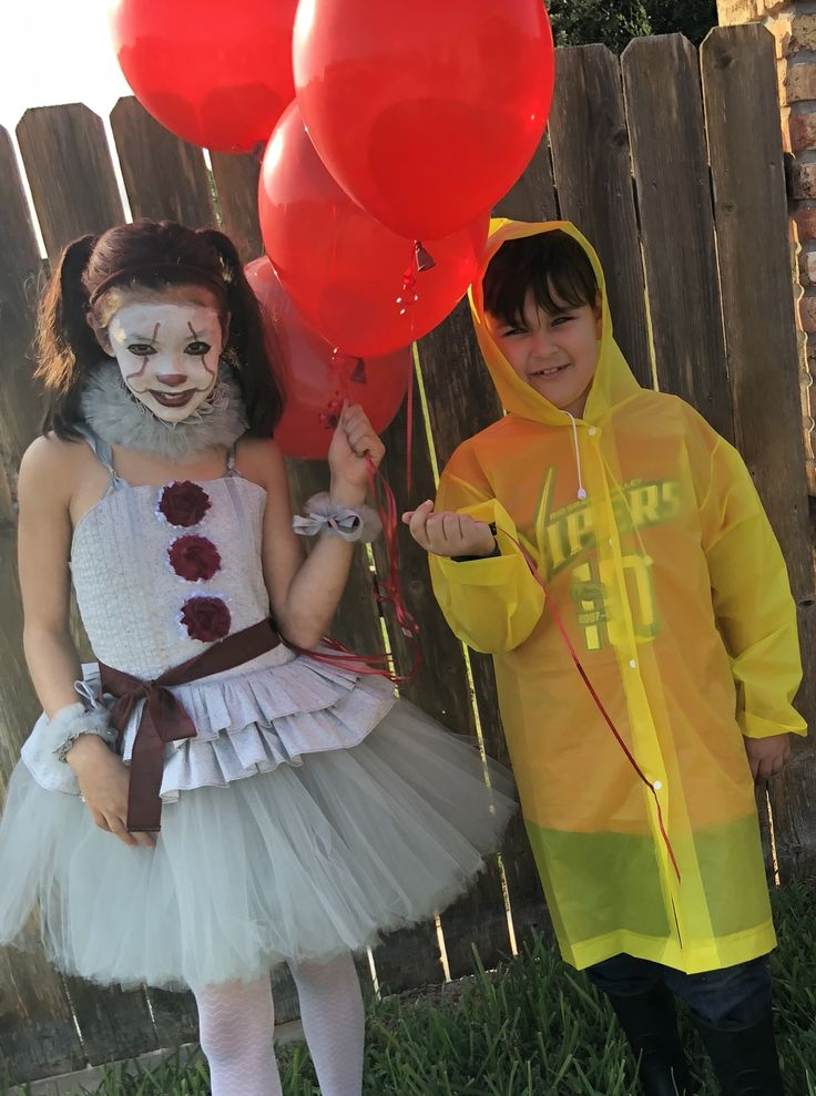 Brother and Sister Costumes Pennywise and Georgie Children ...
