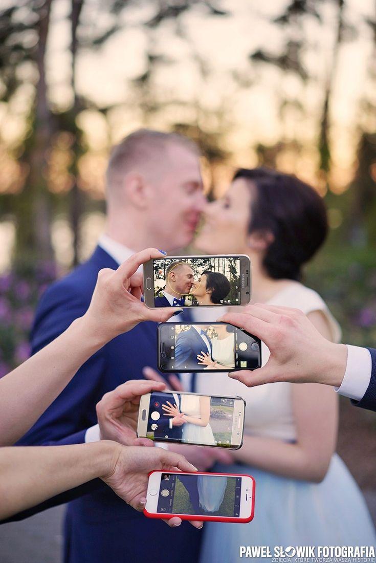 Sesja ślubna telefonem komórkowym
