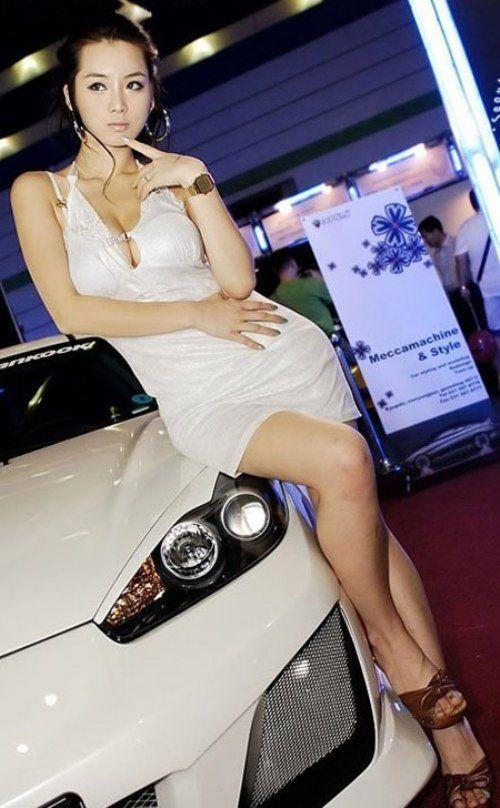 Asian car show girls