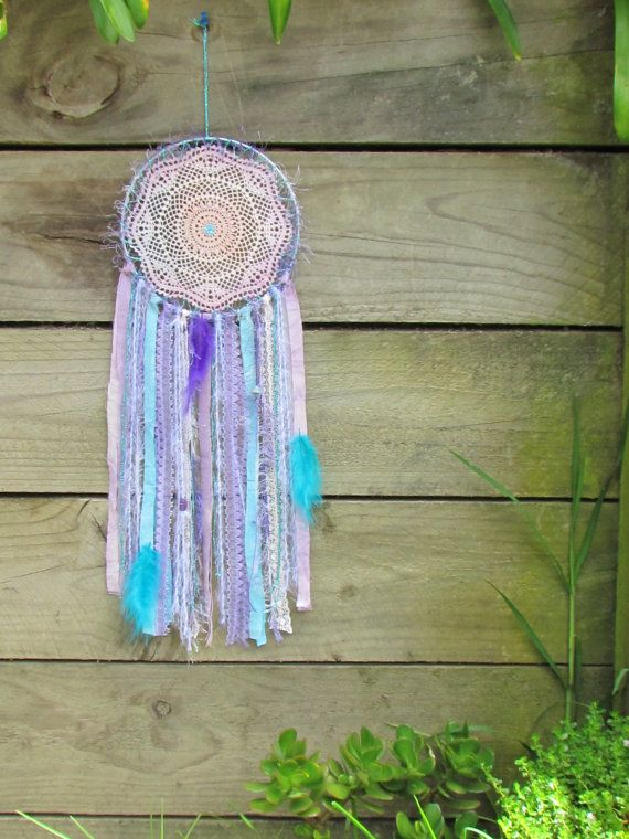 Doily Dreamcatcher Mermaid Tails Purple Blue Pink by doilydreaming