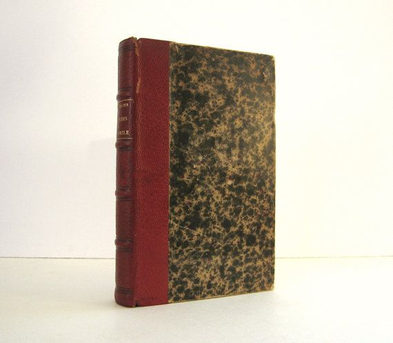 """Quarter Bound Leather Edition of the great Roman philosopher, Marcus Aurelius. French Edition : """"Les Pensees de Marc - Aurele"""", Published in Paris in 1910.  Lovely Deaccessioned Library Book . For sale by Professor Booknoodle. $32.00"""