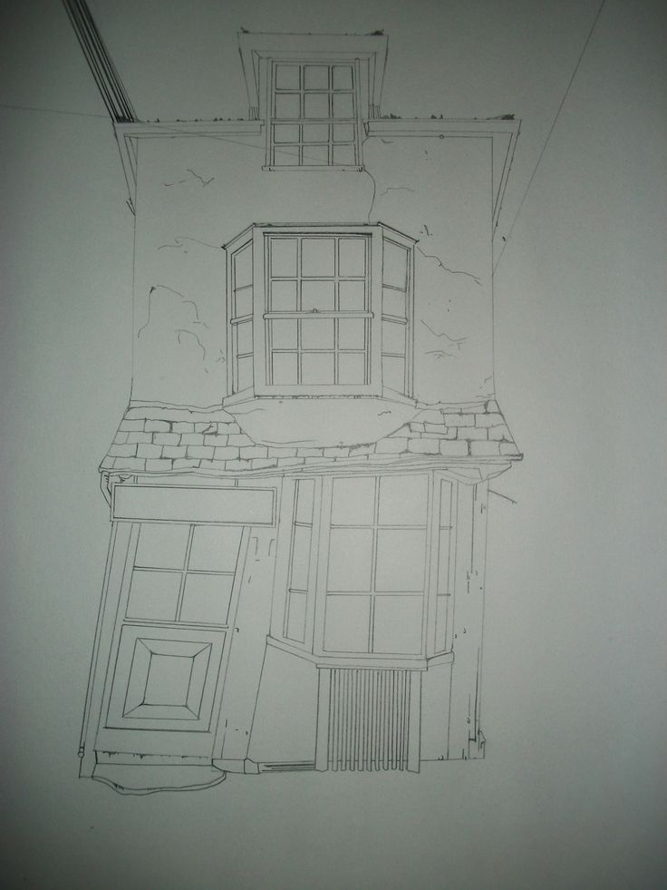 crooked house of Windsor ~ quick sketch by Cat Bouthillier