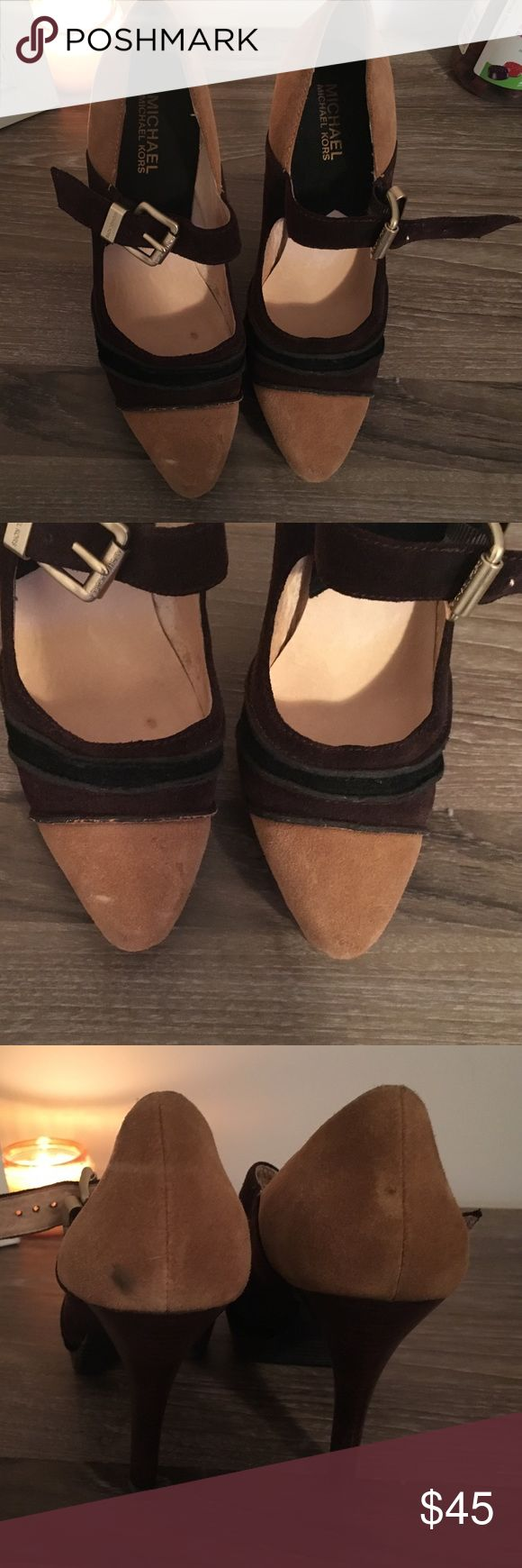 Michael Kors heels Multi colored Michael Kors suede Mary Jane heels! Very comfortable! Perfect for any occasion! Size 7 MICHAEL Michael Kors Shoes Heels