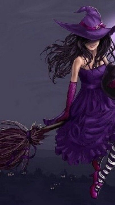 .pretty witch goddess!....Hola and Happy Halloween to all the LIGHT AND LOVE PEOPLE...MAY YOUR DAY BE PURPLE