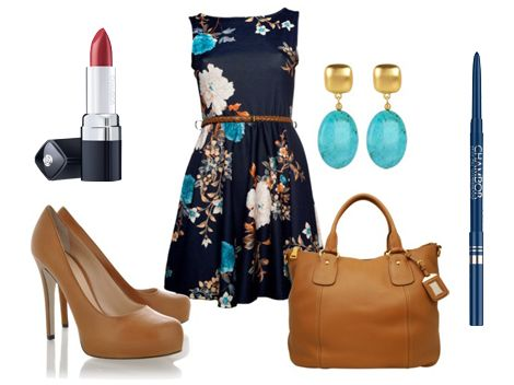 Dress up in a chic floral dress for a lavish Sunday brunch with friends! Enhance your look with Chambor's Stay-On Waterproof Eyeliner Pencil - Forever Navy and Powder Matte Lipstick #166 and get ready to have some fun!