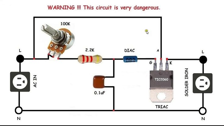 AC control for motors or soldering iron