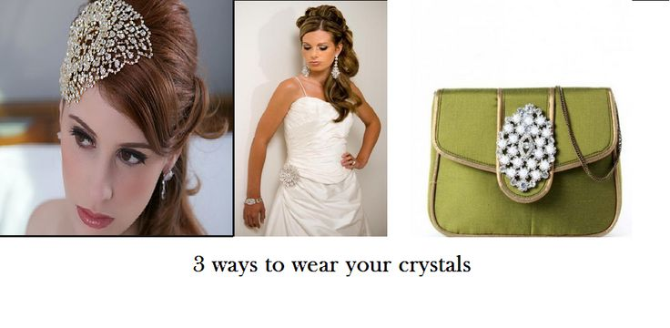 Not sure what to do with your old crystal jewelry?   3 ways to wear your favorite Swarovski crystals: 1. Broke your favorite crystal hairpiece? Fix a safety pin with the help of some all-purpose glue and wear it as a brooch on your favorite evening gown. 2. Spice up a demure hair-band by affixing a tiny crystal at one end to add drama and appeal. 3. Use an old but intricate crystal piece on your clutch/handbag to transform a regular bag to a party accessory.