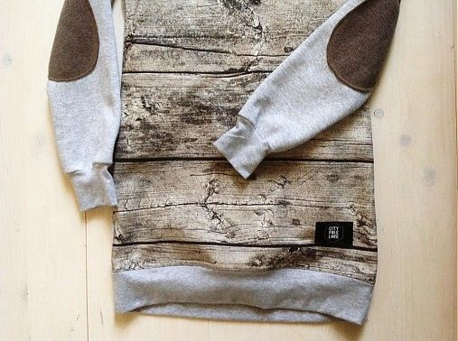 Sweatshirt wood on grey by Cityfolklore - SAShE.sk - Handmade Mikiny