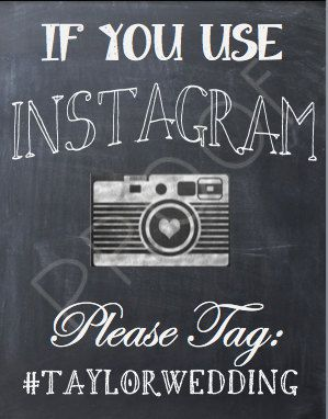 Instagram Sign--reminds me of #kkishbachparty hahha