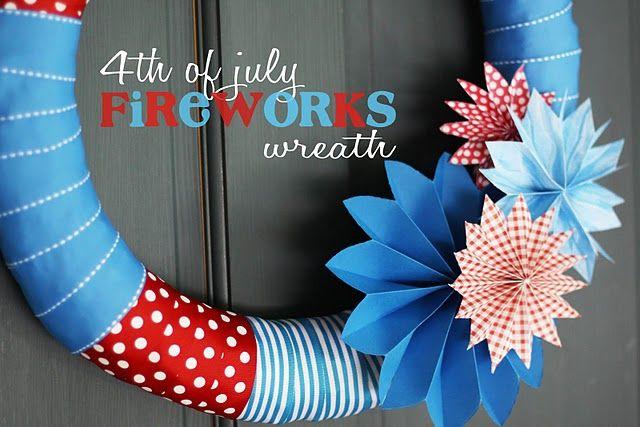 canada day/4th of July wreath
