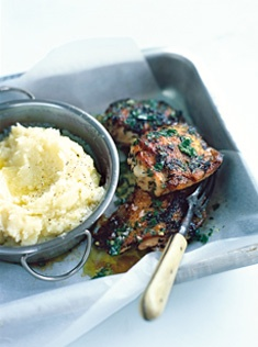 One of my favourites! This herby mustard chicken with olive oil mash by Donna Hay is so yummy.