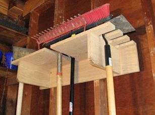 Shovels, brooms, and garden tools can be very diffiult to store. They are often in the way and the products from your local home store aren't often sufficient (let's not forget, expensive). This is a nice project if you are looking to organize your garage. Combine this with some nice...