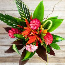 Catalog: Farm To Table Flowers | Sustainably grown Bouqs shipped direct from farms all over the world! We cut when you order ensuring you get the freshest flowers possible, so they last! | flowers - Product: Tropical Love | Send something exotic this Valentine's Day.