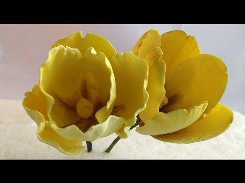 how to make fondant flowers youtube