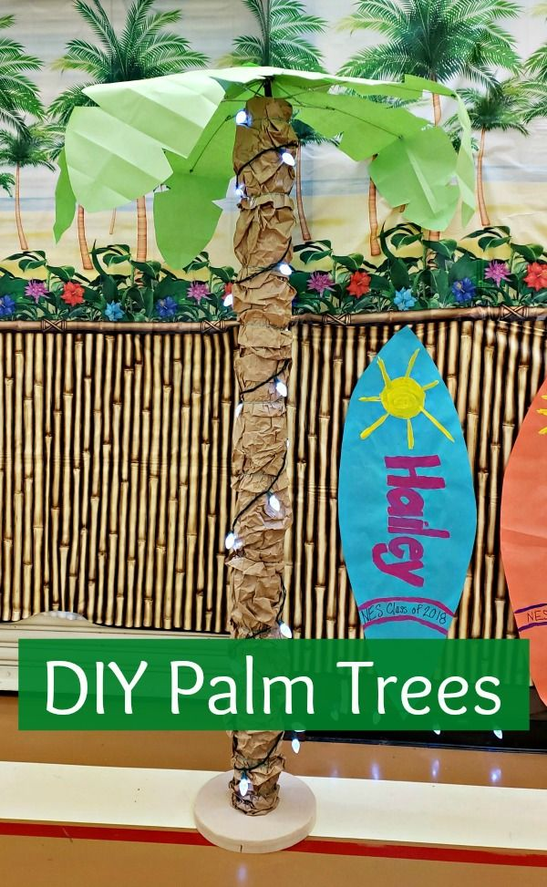 Diy Palm Trees Beach Theme Party Decorations Beach Party